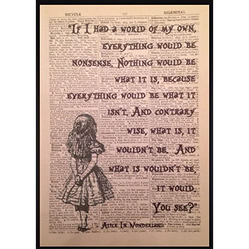 Alice In Wonderland Quotes Amazon Co Uk
