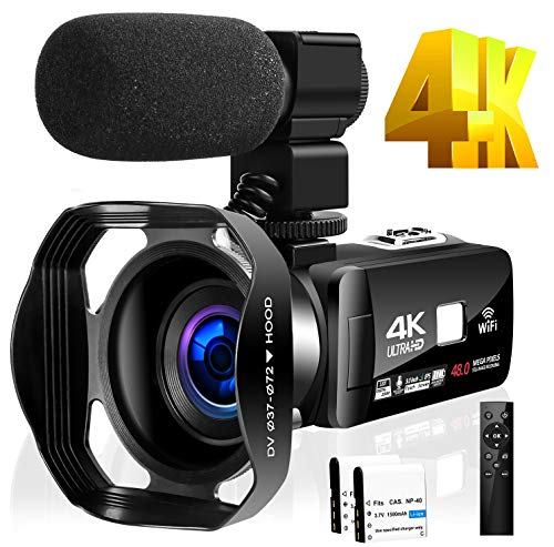 4K Camcorder Video Camera for YouTube HD 48MP 30FPS 16X Digital Zoom Camera 3.0 inch...