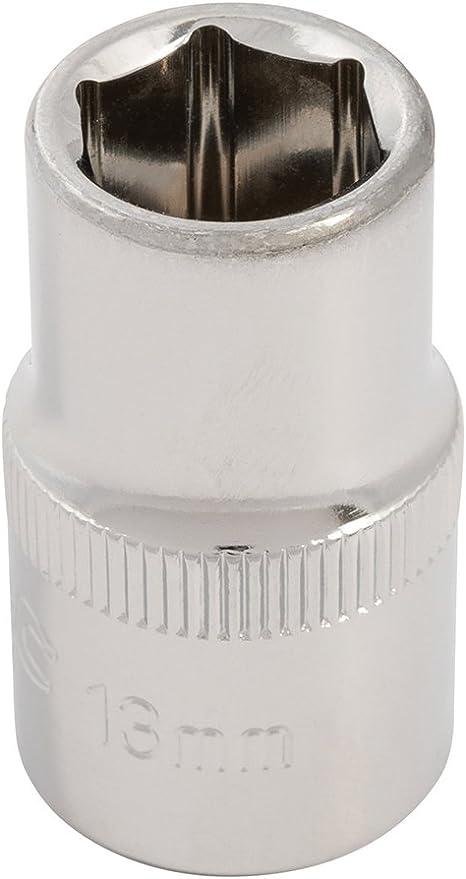 12 Steel Diy Tool 1//2 Inch Drive Metric Hex Socket Silverline 941024 13 Mm