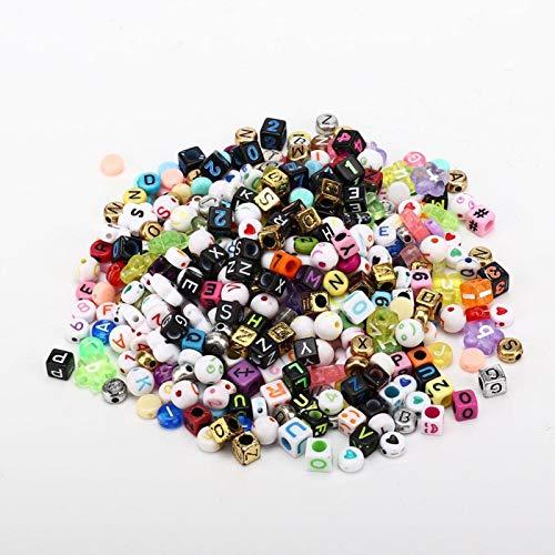 Cuentas sueltas ligeras y de bricolaje, para pulsera, tobillera, collar, pendientes, llaveros