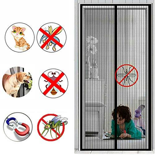 Magnetische vlieg insect scherm deur anti-muggengordijn magnetische zachte scherm deur versleuteling mute anti-muggenstreep huis partitie zelfpriming anti-muggengordijn 175x205CM Zwart B