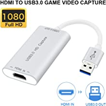 Video Capture Devices,HDMI to USB 3.0 Full HD 1080P Live Video Capture Game Capture Recording Box HDMI USB 3.0 Adapter Video & Audio Grabber for Windows, Mac OS X and Linus System (Sliver)