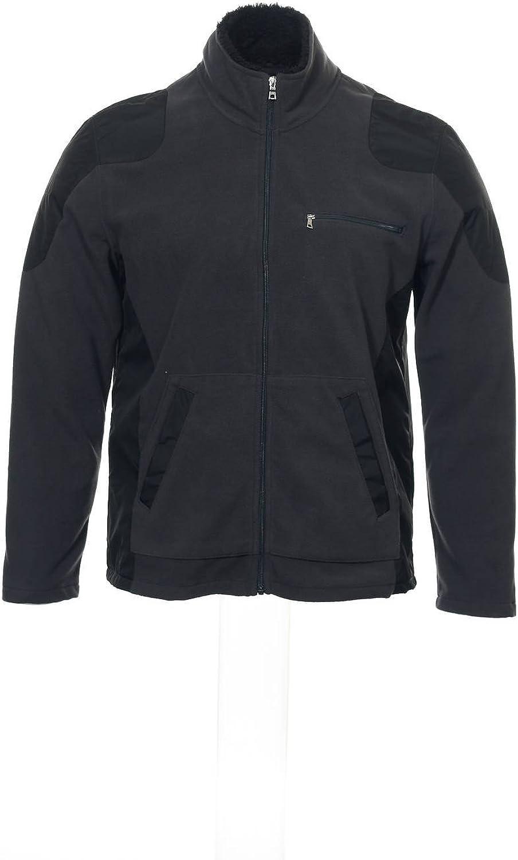 INC International Concepts Men's Gray Color Block Fleece Jacket