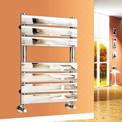 Flat Panel Beheizter Handtuchhalter Badezimmer Rad Chrom rechts Radiator, 650x500 mm