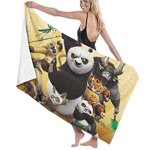 ETGBFHRDH Kungfu Panda - Toalla de baño y Playa para Mujer y Hombre (31 x 51 Pulgadas)