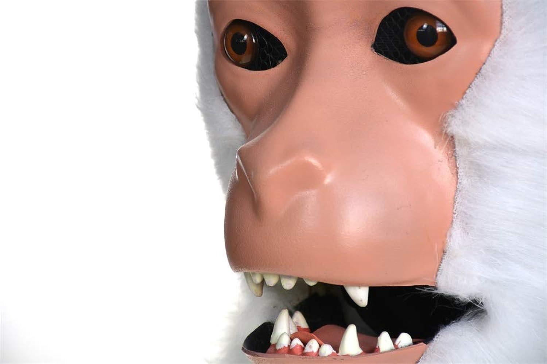 ventas en linea TONGZHENGTAI Moda innovadora de dibujos animados Faddish Furry hecho a a a mano fiesta en movimiento boca en movimiento másCochea blancoa macaca simulación animal másCochea CosJugar Masks Realistic image Animal  Precio por piso