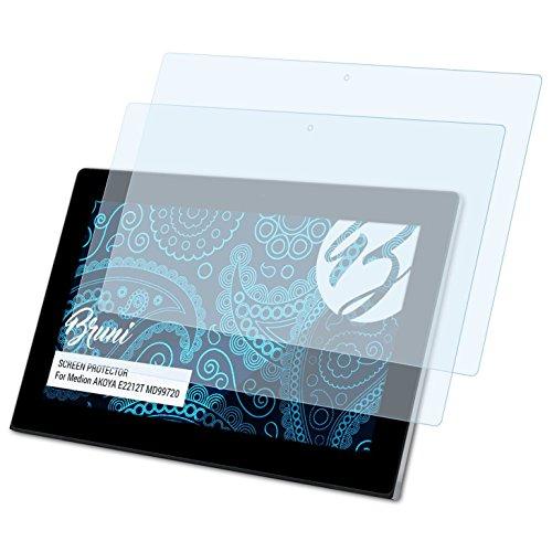 Bruni Schutzfolie kompatibel mit Medion AKOYA E2212T MD99720 Folie, glasklare Displayschutzfolie (2X)