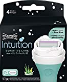 8x Wilkinson Intuition Naturals Sensitiv Care 3 Rasierklingen mit Seife und Aloe