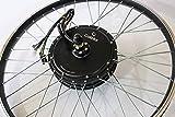 3000W/5000w Peak Hub Motor Electric Bike (ebike) Conversion Kit with 72v Battery + LCD+ Disc Brake Rear Wheel (26' with 72V Batter)