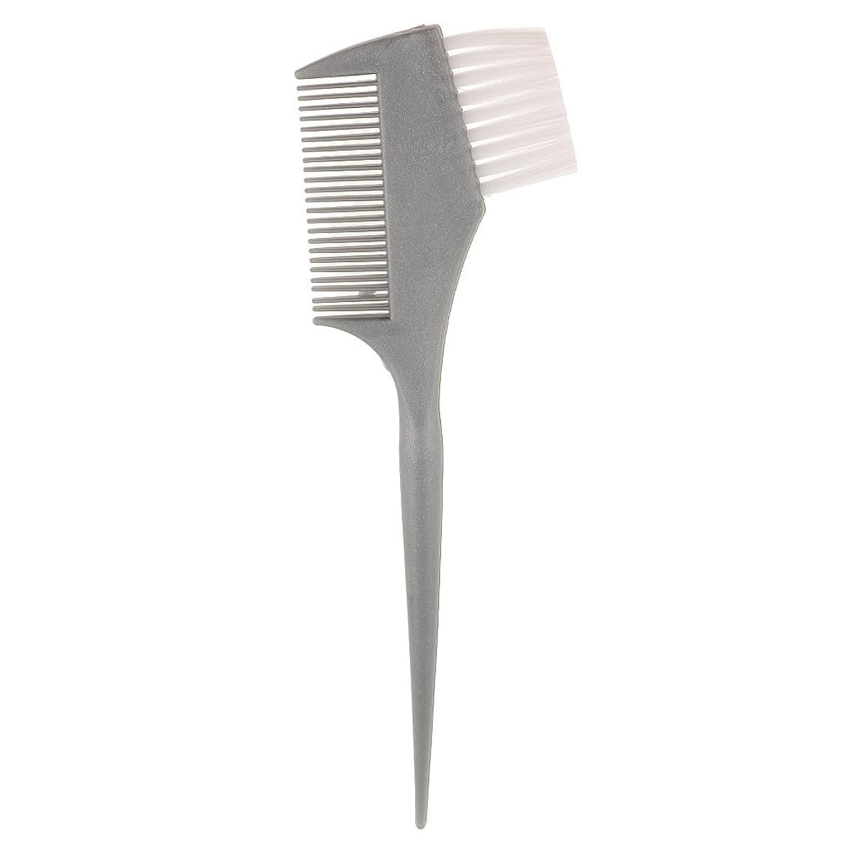 フォージ科学的計画的Perfeclan 染料ヘアコーム プラスチック サロン ヘアカラー カラー ダブルサイド 波型 ナイロン カーリーヘアブラシ 弾性