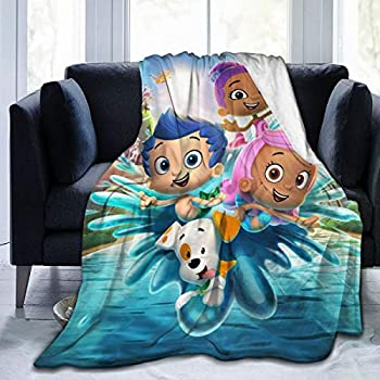 JosephHenkle Soft Micro Fleece Blanket Bubble Guppies Plush Throws Blanket for Children Kids Boys Girls for Bed Sofa Couch Chair Car Travel Beach Lightweight for All Season Gift 50 x40