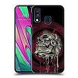 Head Case Designs Tête De Musique Crâne Rock Coque Dure pour l'arrière Compatible avec Samsung Galaxy A40 (2019)