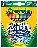 CRAYOLA 52-3282 - Los Lavabilissimi 8 Maxi Ceras Lavables Multi-Color