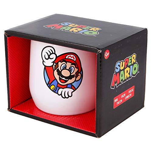 Tazza in ceramica Nova, 360 ml, in scatola regalo Super Mario
