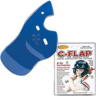 Authentic Baseball Shop Royal Right C-Flap (Left Handed Hitter) Batter's Helmet Face Protector Attachment (Helmet Sold Separately)