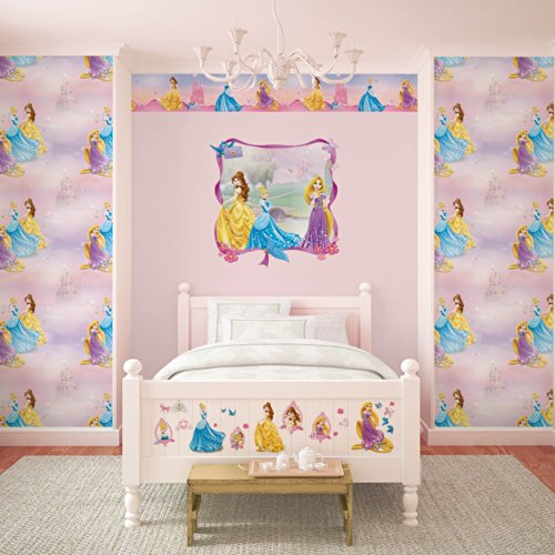 Disney - Papel pintado para pared, diseño de princesas Disney