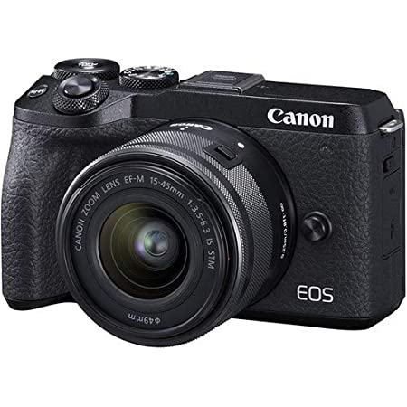 Canon EOS M6 Mark II 32.5MP + EF-M 15-45mm f/3.5-6.3 is STM Lens