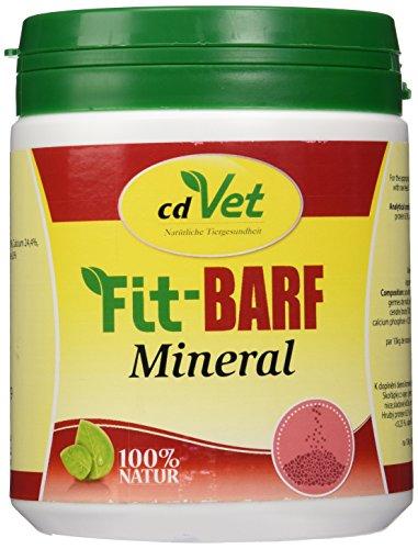 cdVet Naturprodukte Fit-BARF Mineral 600 g - Hund&Katze - Calcium aus Eierschalen und Algenkalk - Knochenwachstum - Stoffwechselvorgänge - Mineralstoffe + Spurenelemente - Rohfütterung - BARFEN -