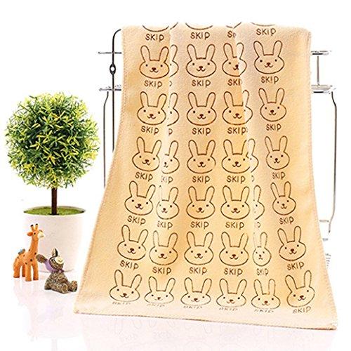 bodhi2000 Bebé conejo suave toalla de baño lavable reutilizable bebé Toallitas manos Faces amarillo amarillo Talla:25CMx50CM