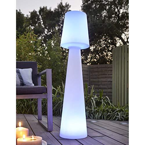 Datalight JLE7051027 Lampadaire Extérieur, Plastique, Blanc, 110 x 25 x 25 cm