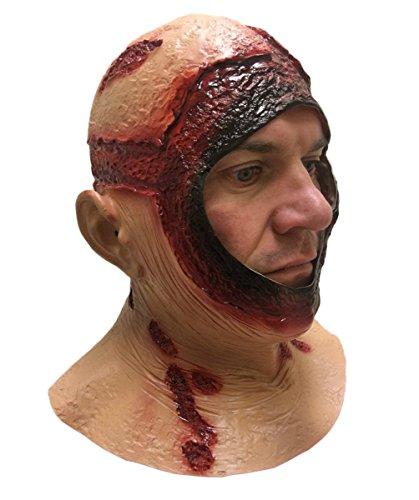 Rubber Johnnies Maschera per cappucci, testa intera, in lattice, Jason Halloween Horror