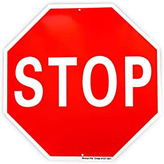 Stop Sign Traffic Slow Reflective Signs, 40 Mil Rust Free Aluminum Warning Sign 12