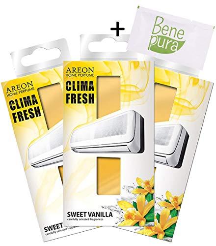 AREON Klima Fresh - zoete vanille-geur - airconditioning ruimte luchtverfrisser - thuis - kantoor - restaurant - fitness centrum - fitnessstudio - Boutique - startpagina parfum, duurzaam, set van 3