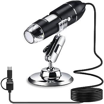 3-in-1 USB式顕微鏡 デジタル顕微鏡 マイクロスコープ 最大1600倍率 1年保証 Android/Win/Mac対応 日本語説明書とAPP 写真/動画記録 LED搭載 肌チェック・部品検査・生物観察 ジタルマイクロスコープ スマホ/PC対応 電子顕微鏡 カメラ 拡大鏡