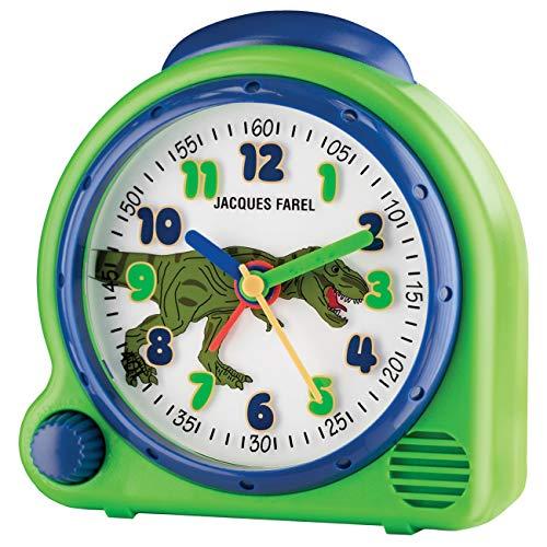 JACQUES FAREL HappySound Kinderwecker grün mit Dino Sound, Lautstärkeregelung AVC 13DINO