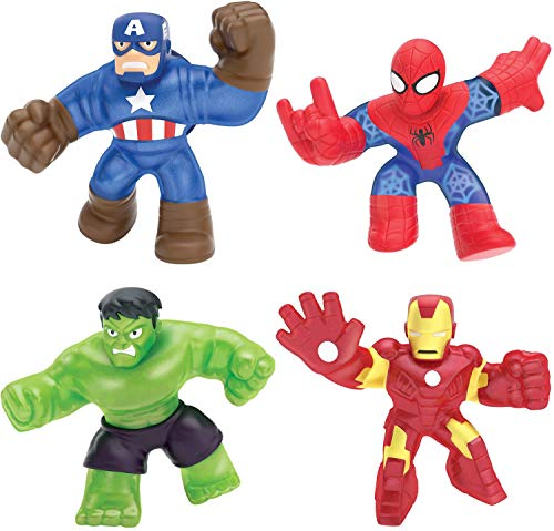 Heroes of Goo Jit Zu Marvel Superpack - Includes Iron Man , Captain America, Hulk, and Spider-Man