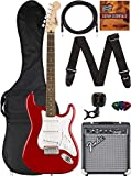 Fender Squier Bullet Stratocaster - Red Bundle with Frontman 10G Amp, Gig Bag, Instrument Cable, Tuner, Strap, Picks, and Austin Bazaar Instructional DVD