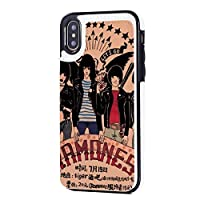 Ramones Iphone X/XS ケース 携帯ケース スマホケース 耐衝撃 ポケット付き スタンド機能 カード収納 充電対応 防水 軽量 合皮レザー マグネット式 ワイヤレス 高質合成皮革