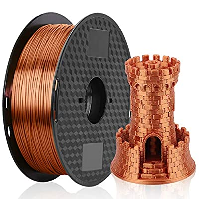 Silk Copper 3D Printer Filament 1.75mm PLA Filament 1KG 2.2LBS 1 Spool MKOEM