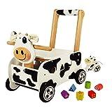 Schiebewagen Kuh schwarz/weiß