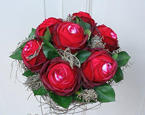 FRI-Collection Meisterfloristik Rosenstrauß Biedermeier rote Rose Strauß mit roten Rosen...