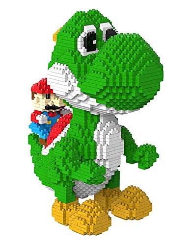 QSSQ 2276 PCS Nano Block Yoshi Building Set, Super Mario Juego Dinosaur Party Personal Models, Edificio Montaje De Juguete para Adolescentes Y Adultos, Regalos De Cumpleaños