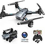 SNAPTAIN A15H Drone bi Kamerayê HD 720P Drone Foldable FPV WLAN 120 ° Wide Angle RC Quadcopter / Mode Headless / Altitude / 3D Flips / Trajectory Flight / Control Voice / Sensor Gravity / Land Land