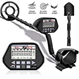 Metal Detector, Professional High Accuracy Metal Detector for Adults & Kids, Adjustable Beach Waterproof Gold Detector with Pinpoint & Sensitive Search Coil, with Multiple Audio Prompts &DISC Modes