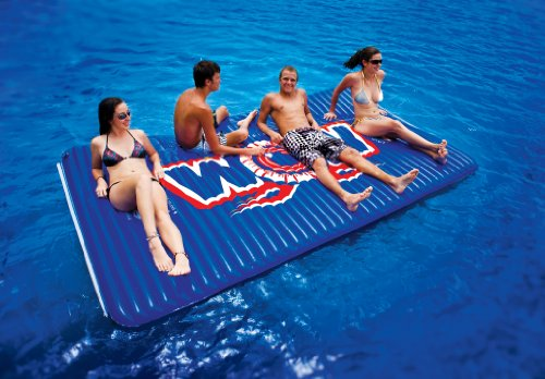 WOW World of Watersports, Inflatable Floating Water Walkway, Blue, 10 x 6 Feet, 1 to 6 People