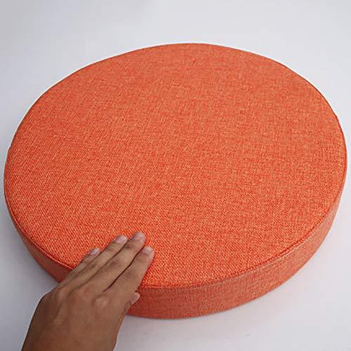 MSM Verdicken Sie Runde Sitzkissen, Tatami Bay-Fenster Balkontür Runde Japaner Sitzkissen Große Futon Stuhl-pad, 8cm Dick-apfelsine Durchmesser: 45cm
