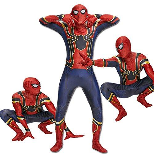 unbrand Schwarz Rot Spiderman Superhero Kinder Herren Jungen Kostüm Cosplay Party