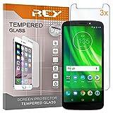 REY Pack 3X Panzerglas Schutzfolie für Motorola Moto G6 Play, Bildschirmschutzfolie 9H+ Festigkeit, Anti-Kratzen, Anti-Öl, Anti-Bläschen