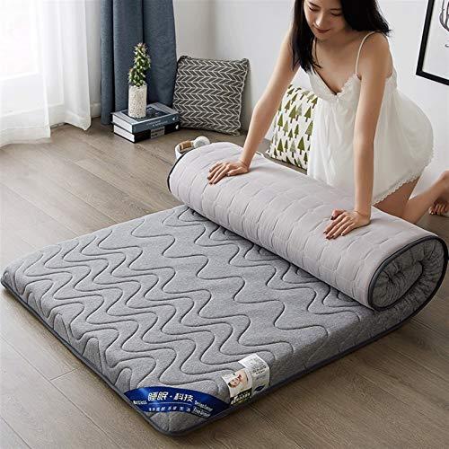 dongyu Colchón de espuma viscoelástica plegable de alta densidad de rebote lento para el suelo, para dormir, dormitorio, tatami King tamaño Queen (tamaño: 150 x 200 cm, color: B)
