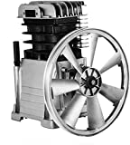 FlowerW Industrial 3HP Air Compressor Head Pump Motor 160PSI 1300/min Single Stage Twin Cylinder Aluminum Air...