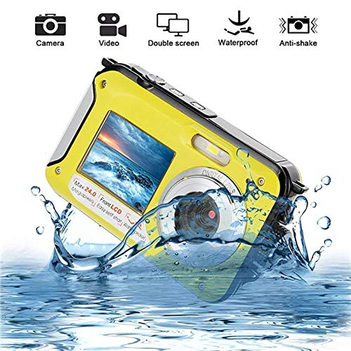 Affordable WXJHA Waterproof Digital Camera 1080P Full HD Anti-Shake Underwater Camera 24 MP Video Re...