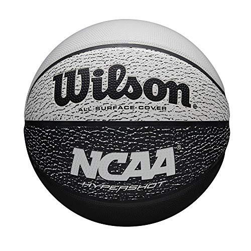 Wilson NCAA Hypershot II Baloncesto - Negro/Blanco, Juvenil - 27.5'