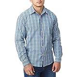 Gahibre 475 Camisa franela azul 100/% algod/ón 170 gramos