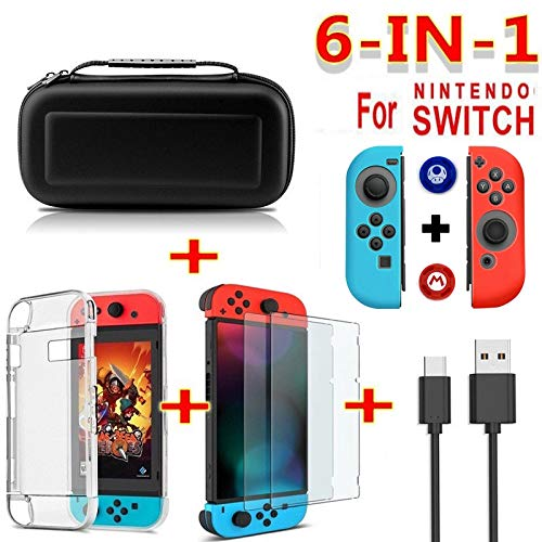 OUYAWEI Erelectronics For Nintend Switch - Funda protectora de pantalla para interruptor de viaje, color negro