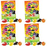 DinDon Fruity's Ju-C Jelly Delicacies Golosinas De Sabores Assorted Flavors Pack of 4