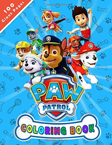 Paw Patrol Coloring Book: A Perfect gift for kids ages 4-8